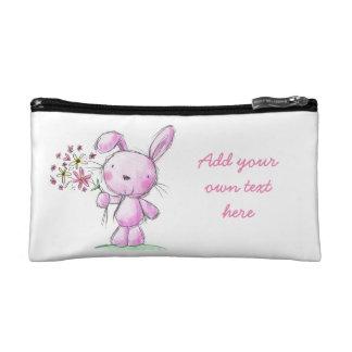 COMPONGA las flores rosadas lindas del conejo de