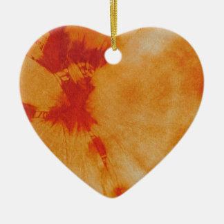 Composición #12 del teñido anudado de Michael Adorno Navideño De Cerámica En Forma De Corazón