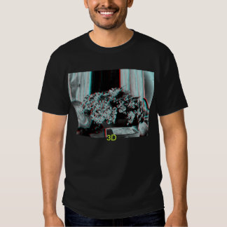 composición 3D de flores con 3D. Camisas