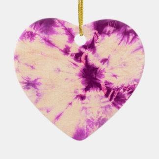 Composición #7 del teñido anudado de Michael Moffa Adorno Navideño De Cerámica En Forma De Corazón