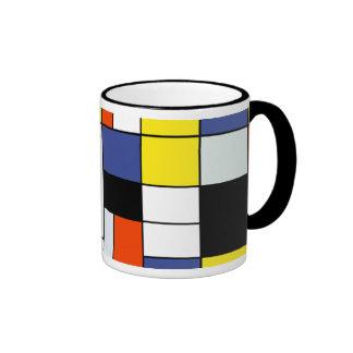 Composición A de Piet Mondrian Taza