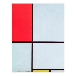 Composición con Red, Black, Blue y Yellow, 1928 Postal