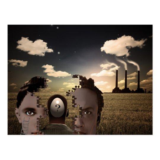 Composición surrealista postal