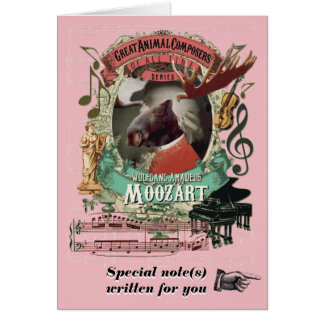 Compositor animal divertido de la música de tarjeta de felicitación