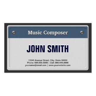 Compositor de la música - placa fresca del coche tarjetas de visita