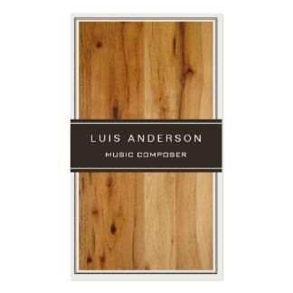 Compositor de la música - textura de madera tarjetas de visita