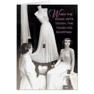 Comprador de los años 50 del vintage: Cuando el ir Tarjeta De Felicitación