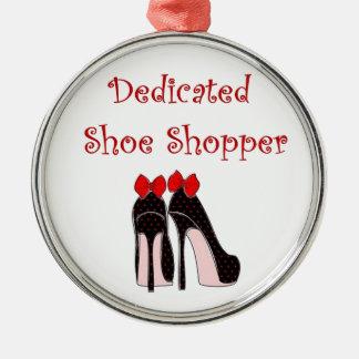 Comprador dedicado del zapato adorno redondo plateado