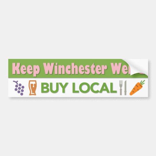 Compre a la pegatina para el parachoques local