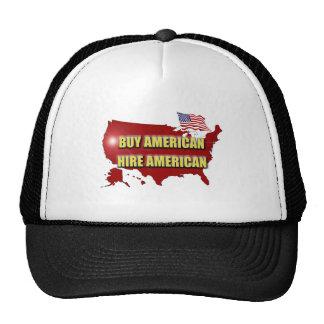 ¡Compre América!  ¡Emplee América! Gorras