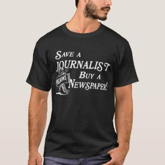 Compre el periódico ahorran al periodista camiseta