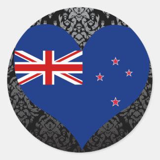 Compre la bandera de Nueva Zelanda Pegatina Redonda