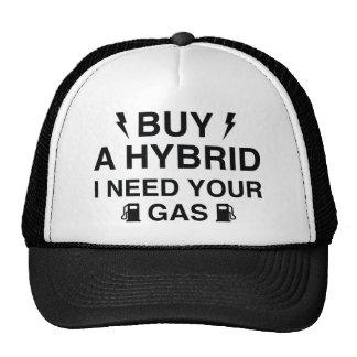 Compre un híbrido que necesito su gas gorra