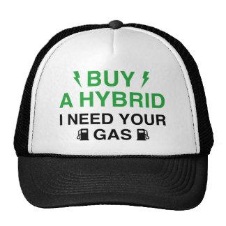 Compre un híbrido que necesito su gas gorro de camionero