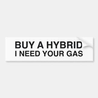 Compre un híbrido que necesito su gas pegatina para coche