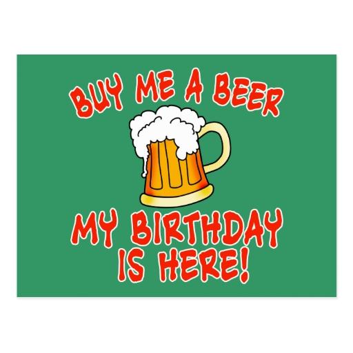 Cerveza del cumpleaños postal | Zazzle