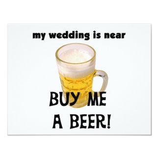 Cómpreme una despedida de soltero de la cerveza invitación 10,8 x 13,9 cm