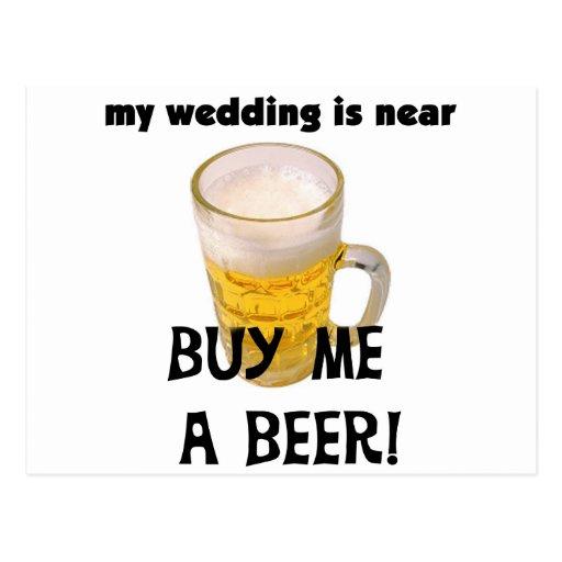 Cómpreme una despedida de soltero de la cerveza la tarjeta postal