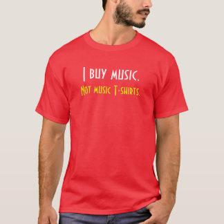 Compro música.  No camisetas de la música