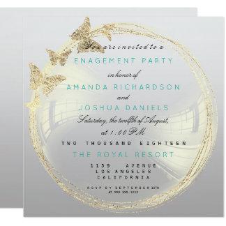 Compromiso de oro más astuto gris Ombre del boda Invitación 13,3 Cm X 13,3cm