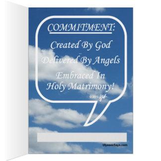 Compromiso del abrazo en matrimonio santo tarjeta de felicitación