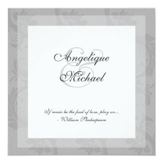 Compromiso del aniversario de boda de los gris invitación 13,3 cm x 13,3cm