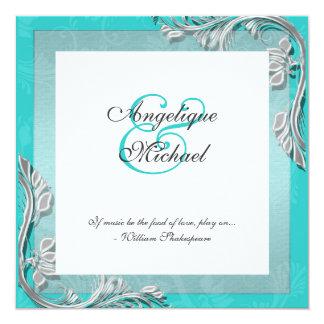 Compromiso del aniversario de bodas de plata de la invitación 13,3 cm x 13,3cm
