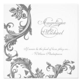 Compromiso del aniversario de bodas de plata invitacion personalizada