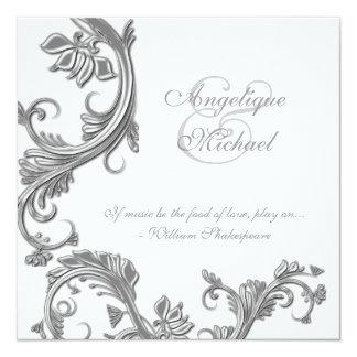 Compromiso del aniversario de bodas de plata invitación 13,3 cm x 13,3cm