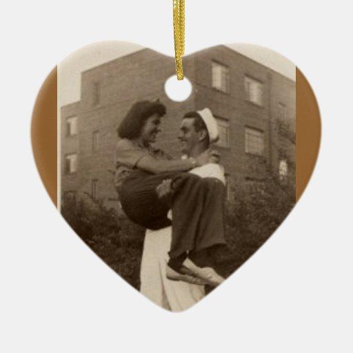 Compromiso del boda de 1944 militares adorno para reyes