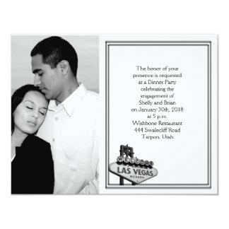 Compromiso del boda del destino de Las Vegas Invitación 10,8 X 13,9 Cm