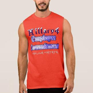 Compromiso del presidente empleado del voto de camiseta sin mangas