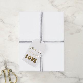 Compromiso elegante del boda del oro de la etiquetas para regalos