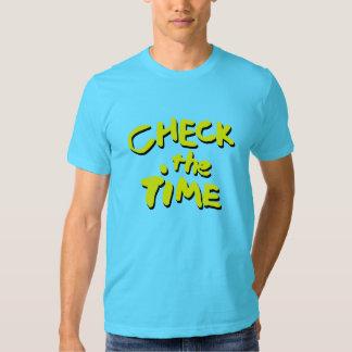 Compruebe el tiempo camisetas