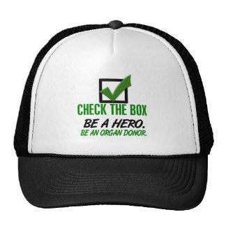 Compruebe la caja sea un donante de órganos 1 gorras