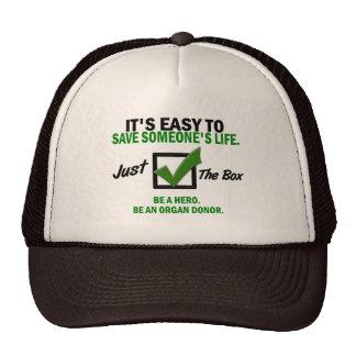 Compruebe la caja sea un donante de órganos 5 gorros