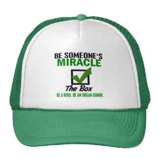 Compruebe la caja sea un donante de órganos 6 gorra