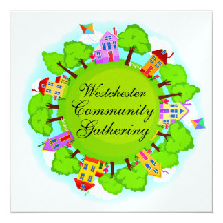 Comunidad - acontecimiento de la vecindad - SRF Invitación 13,3 Cm X 13,3cm