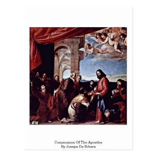 Comunión de los apóstoles de Jusepe De Ribera Tarjeta Postal