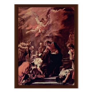 Comunión de los apóstoles de Ricci Sebastiano Postal