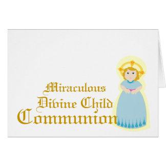 Comunión-Personalizar milagroso Tarjeton