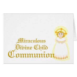 Comunión-Personalizar milagroso Tarjeta