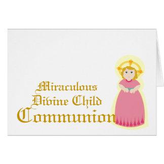 Comunión-Personalizar milagroso Felicitacion