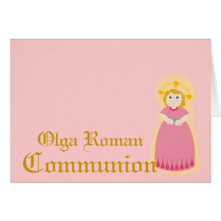 Comunión-Personalizar Tarjeta De Felicitación