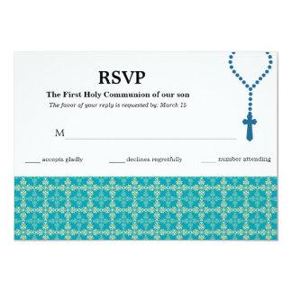 Comunión santa de la tarjeta de la respuesta invitación 12,7 x 17,8 cm