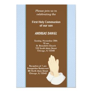 Comunión santa de los puntos invitación 12,7 x 17,8 cm