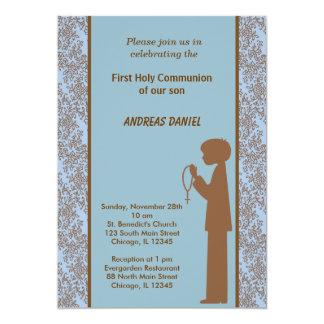 Comunión santa del damasco invitación 12,7 x 17,8 cm