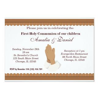 Comunión santa invitación 12,7 x 17,8 cm