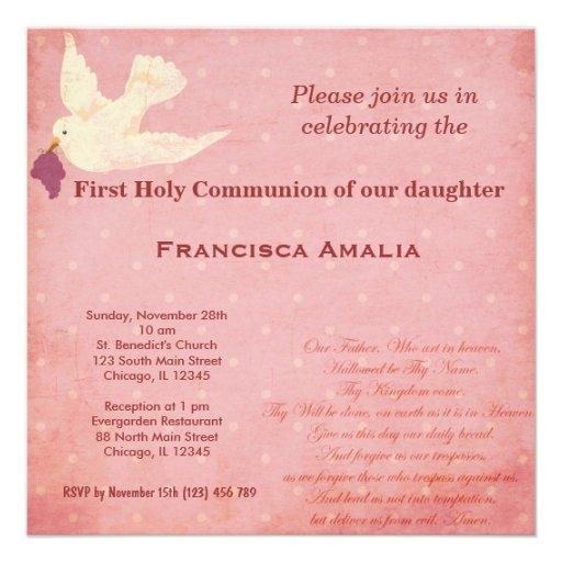 Comunión santa invitaciones personalizada
