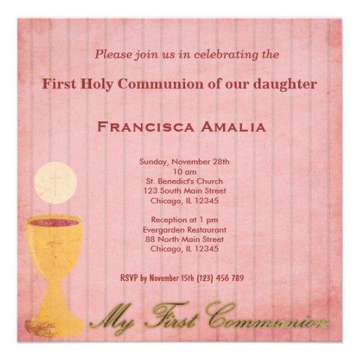 Comunión santa comunicados personalizados
